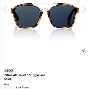 DIOR ABSTRACT SUNGLASSES.
